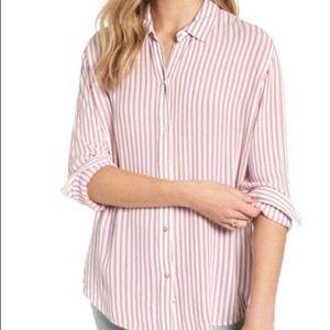 Rails red & white striped buttondown shirt